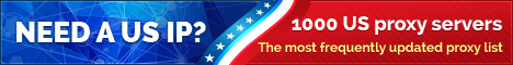 Need a US IP? 1000 US proxy servers! The most frequently updated proxy list