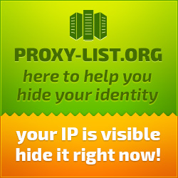 Your IP is visible, hide it right now! Try Proxy-List.org - 10000 working proxy servers.